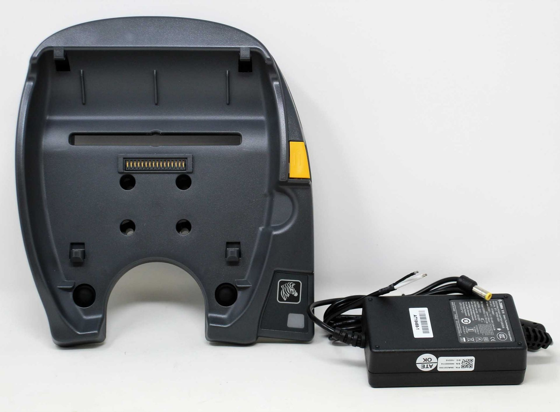 A boxed as new Zebra QLn420 Forklift Vehicle Cradle (Power adaptor and software included) (Model: