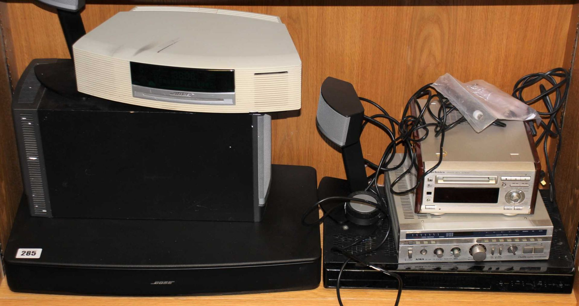 COLLECTION ONLY: A quantity of assorted pre-owned AV items to include Bose, Technics and Aiwa
