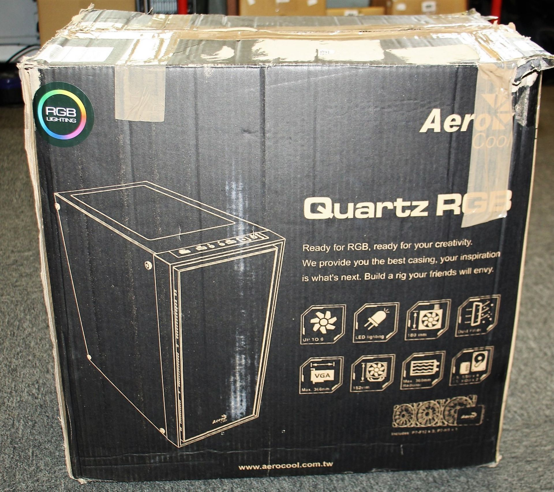 A pre-owned Cube Falcon RGB Custom Gaming PC in an AreoCool Quartz RGB Housing with Intel Core i5- - Image 2 of 15
