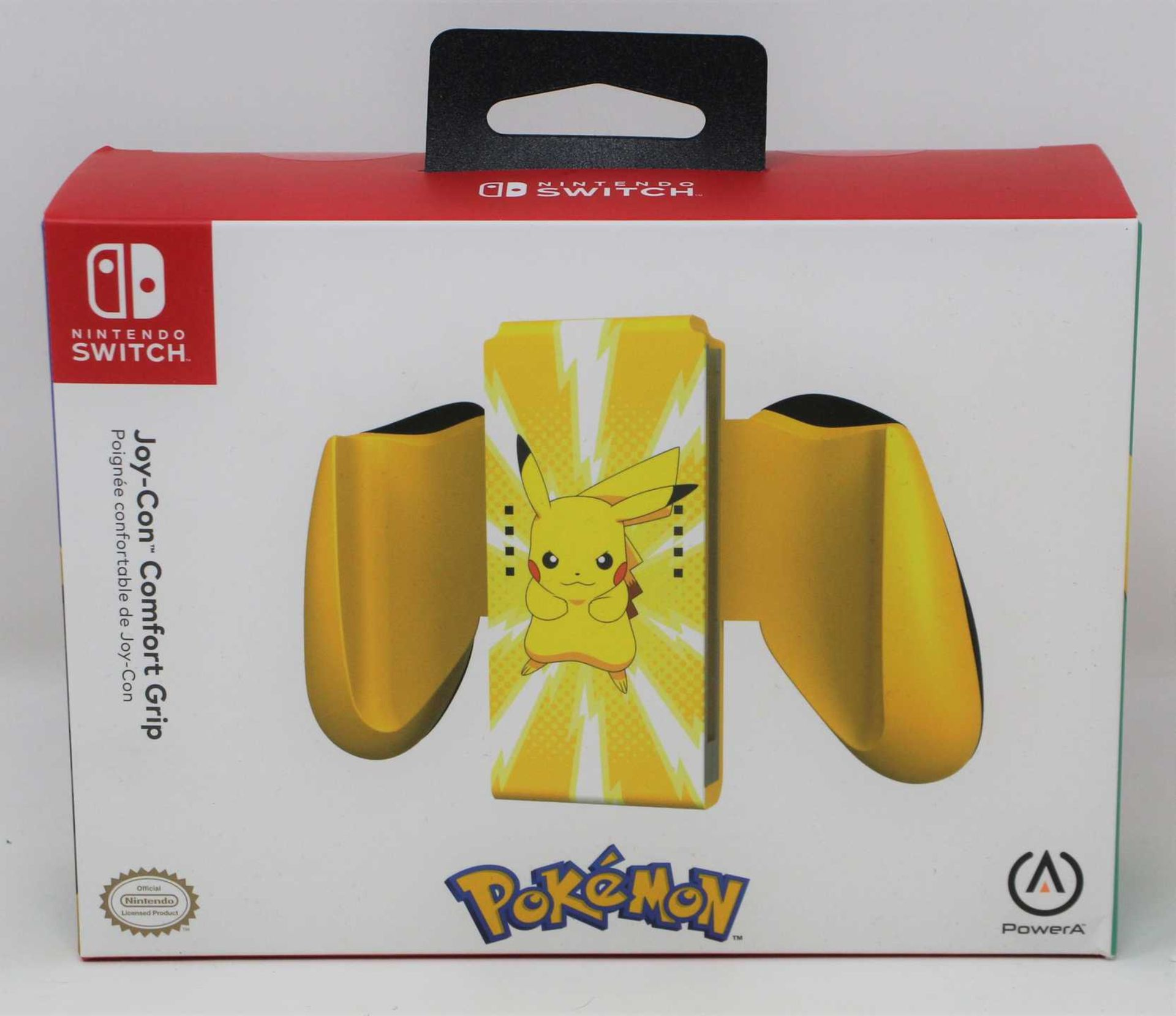 A boxed as new PowerA Pikachu Edition Joy-Con Comfort Grip for Nintendo Switch (Box sealed).