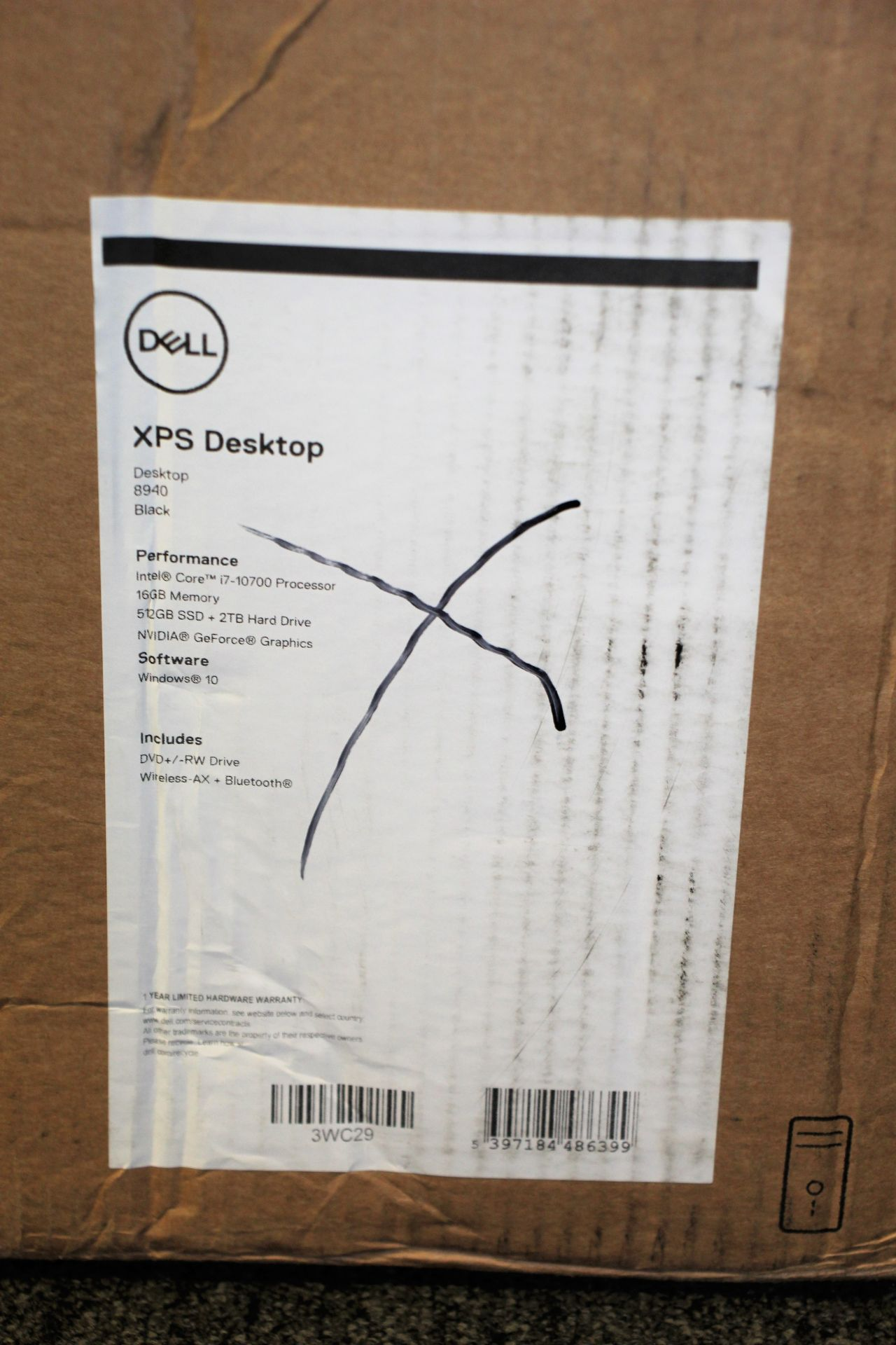 A boxed as new Dell XPS 8940 Tower Computer in Black with Intel Core i7-10700 2.9GHz CPU, 16GB - Image 4 of 14