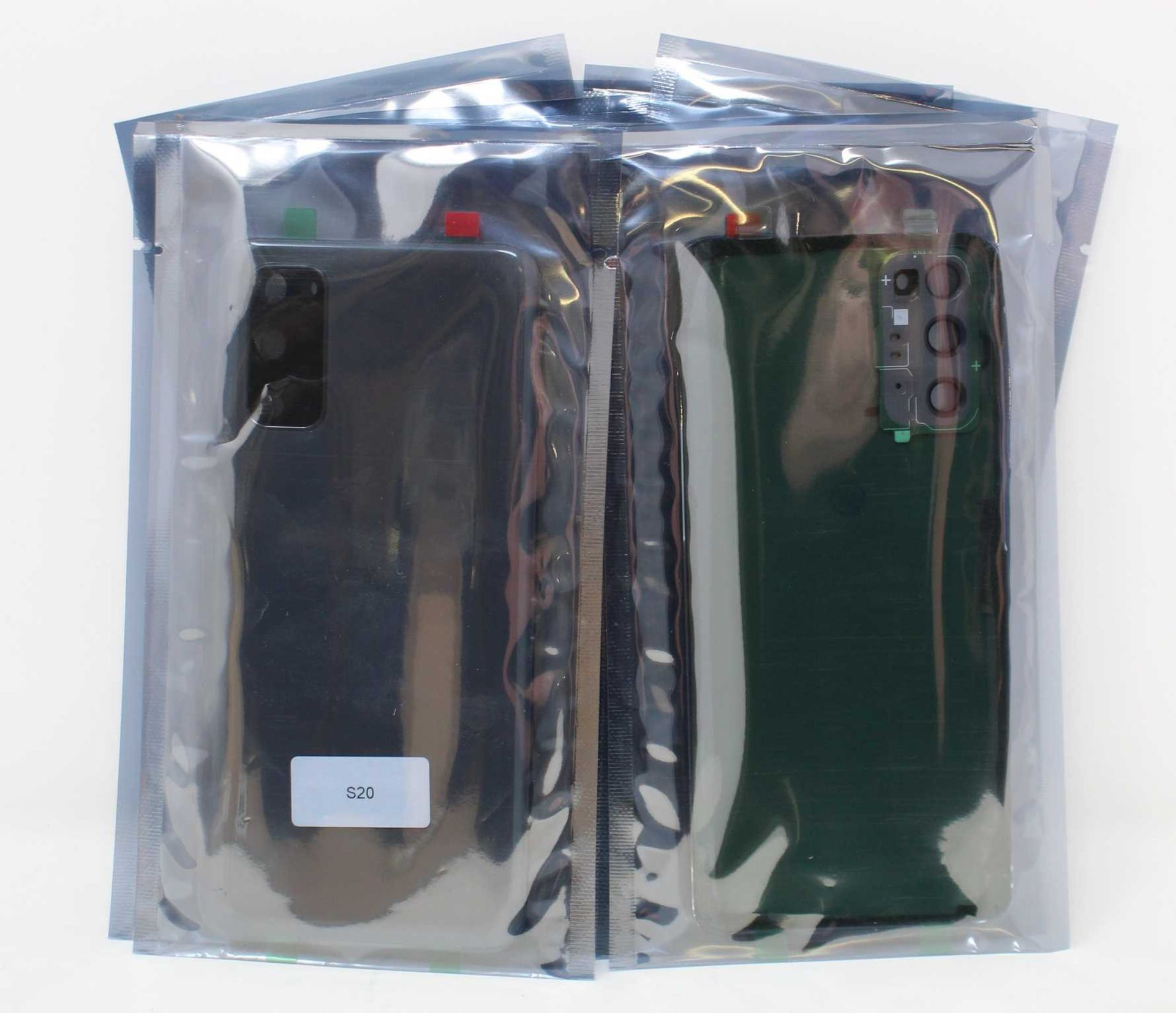Ten as new unbranded replacement back covers for Samsung S20 in Grey.