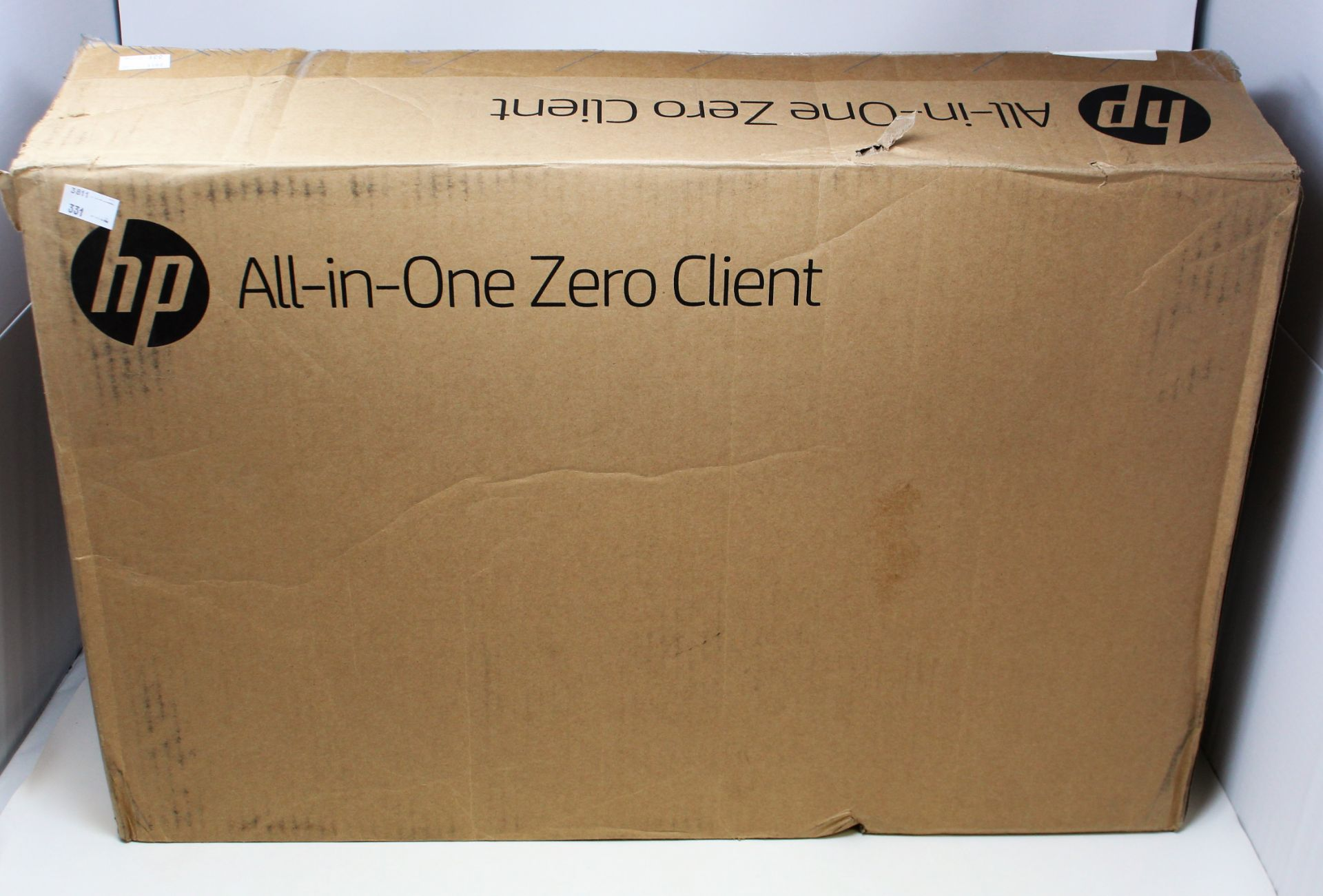 A boxed as new HP t310 G2 All-in-One Zero Client (No OS) (P/N: 3CN12AT#ABU Serial: CNV951B1BW) (