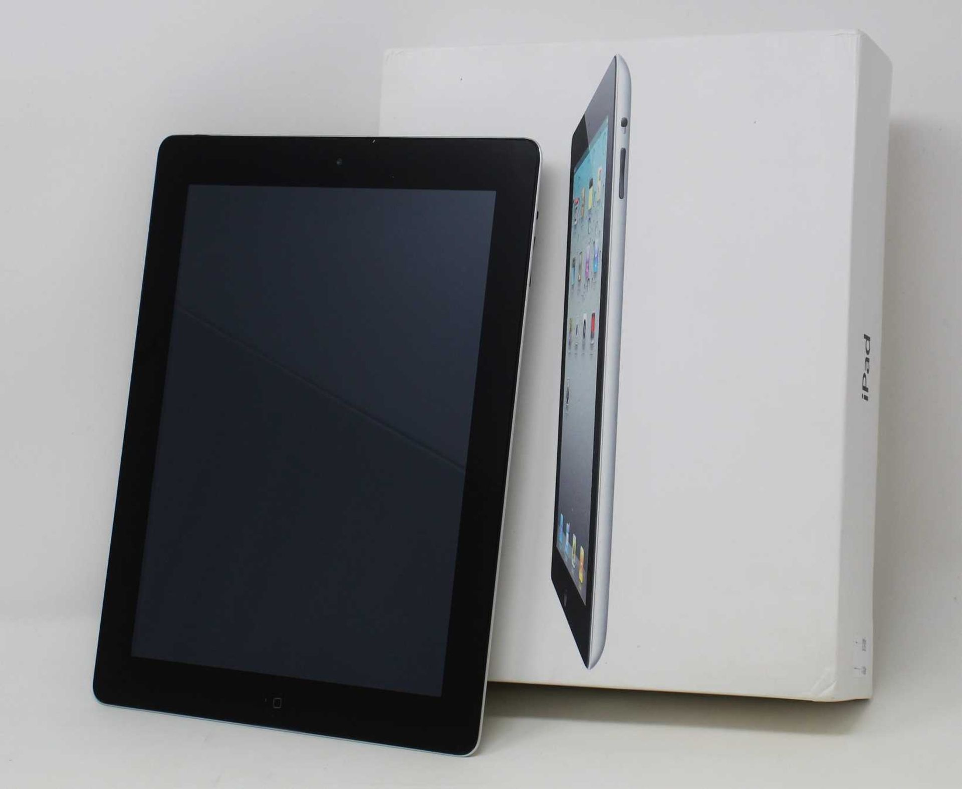 A pre-owned Apple iPad 2 (Wi-Fi Only) 16GB in Black (FRP clear. Some light some damage to casing) (