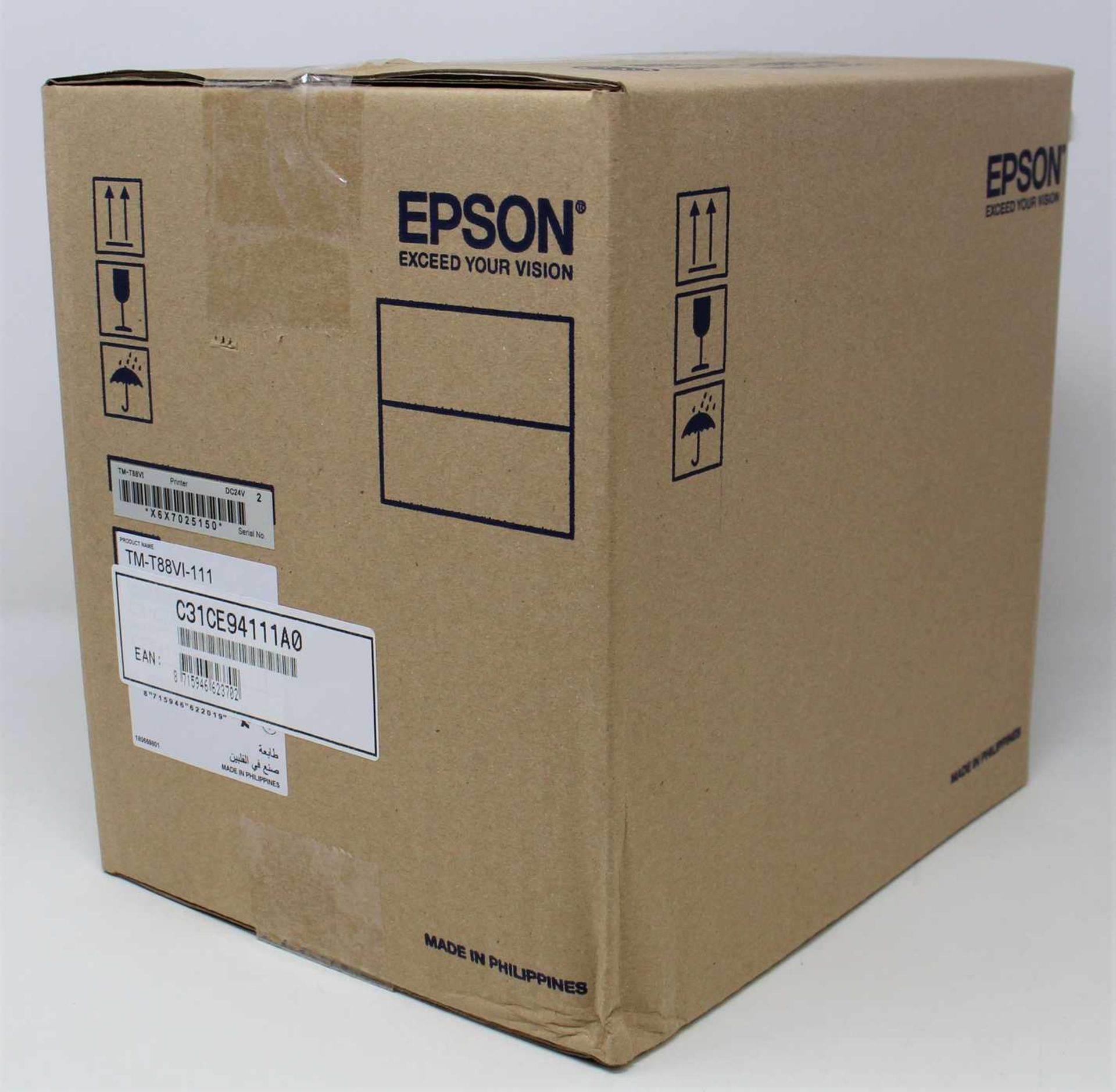 A boxed new Epson TM-T88VI Thermal Line Receipt Printer (C31CE94111A0) (Box sealed).