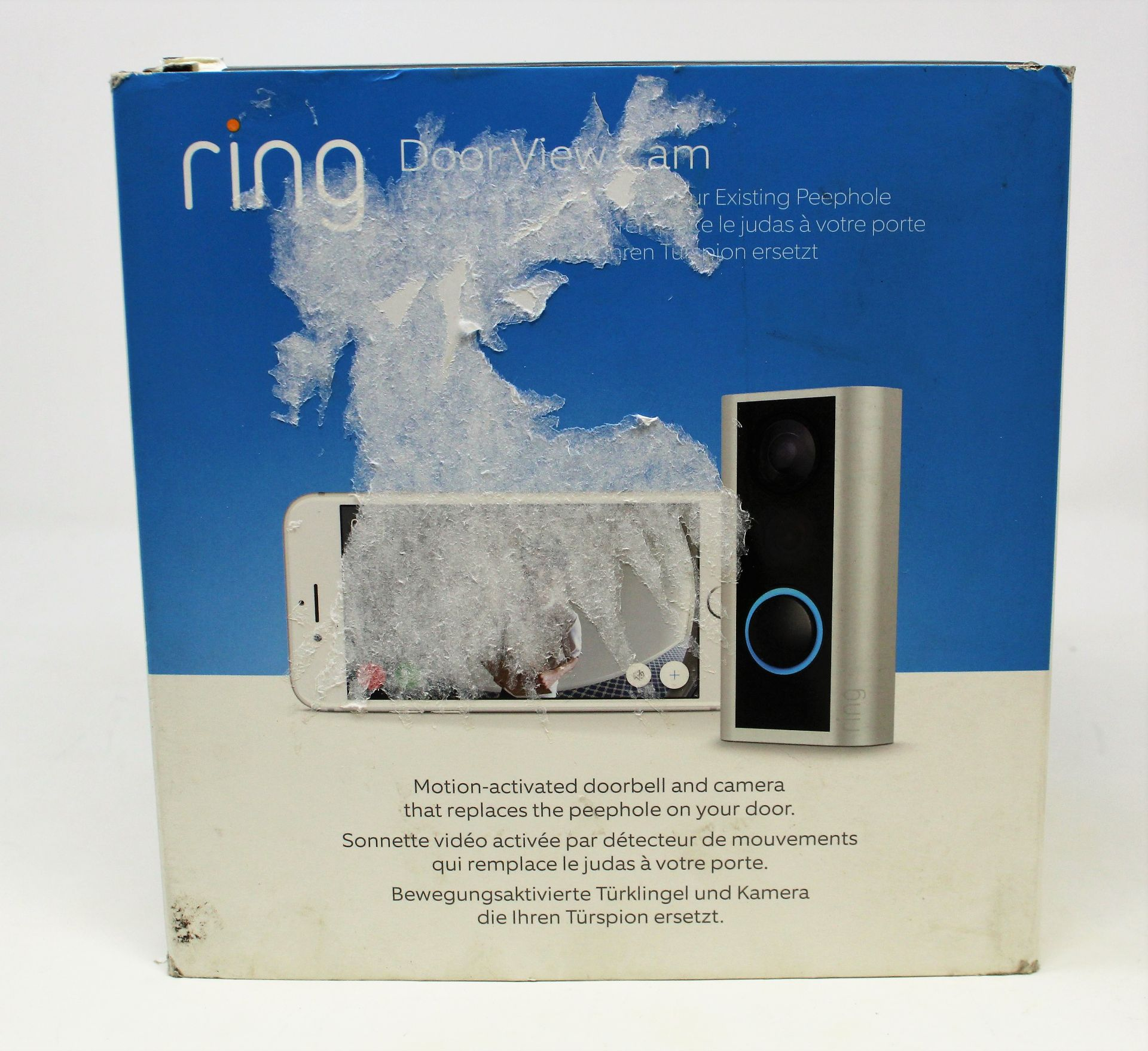 A boxed Ring Door View Cam in Silver (Appears as new. Damaged box). - Image 2 of 7