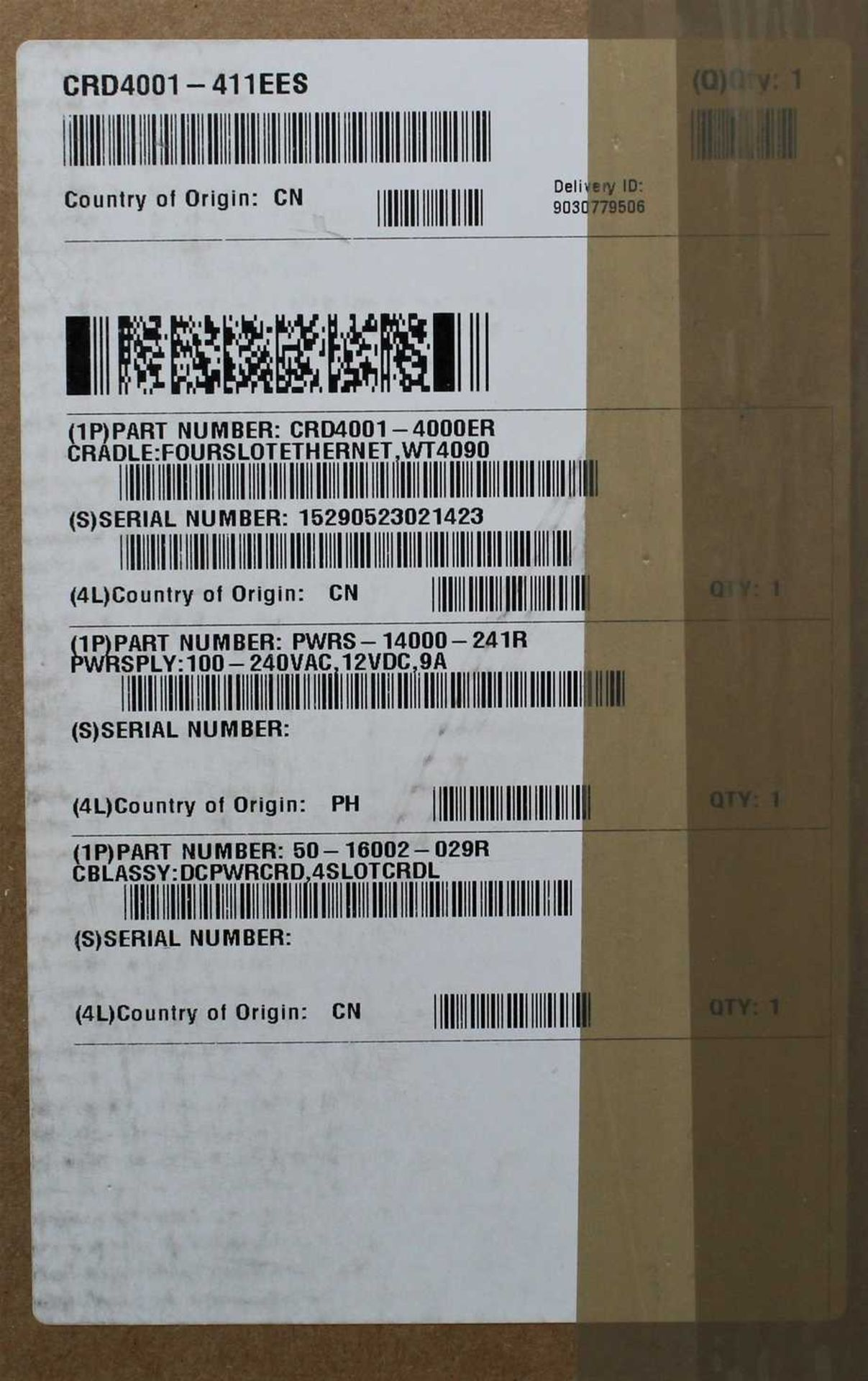 A boxed as new Zebra Symbol CRD4001-411EES Four Slot Ethernet Cradle Kit For WT4000 Series Barcode - Image 2 of 2