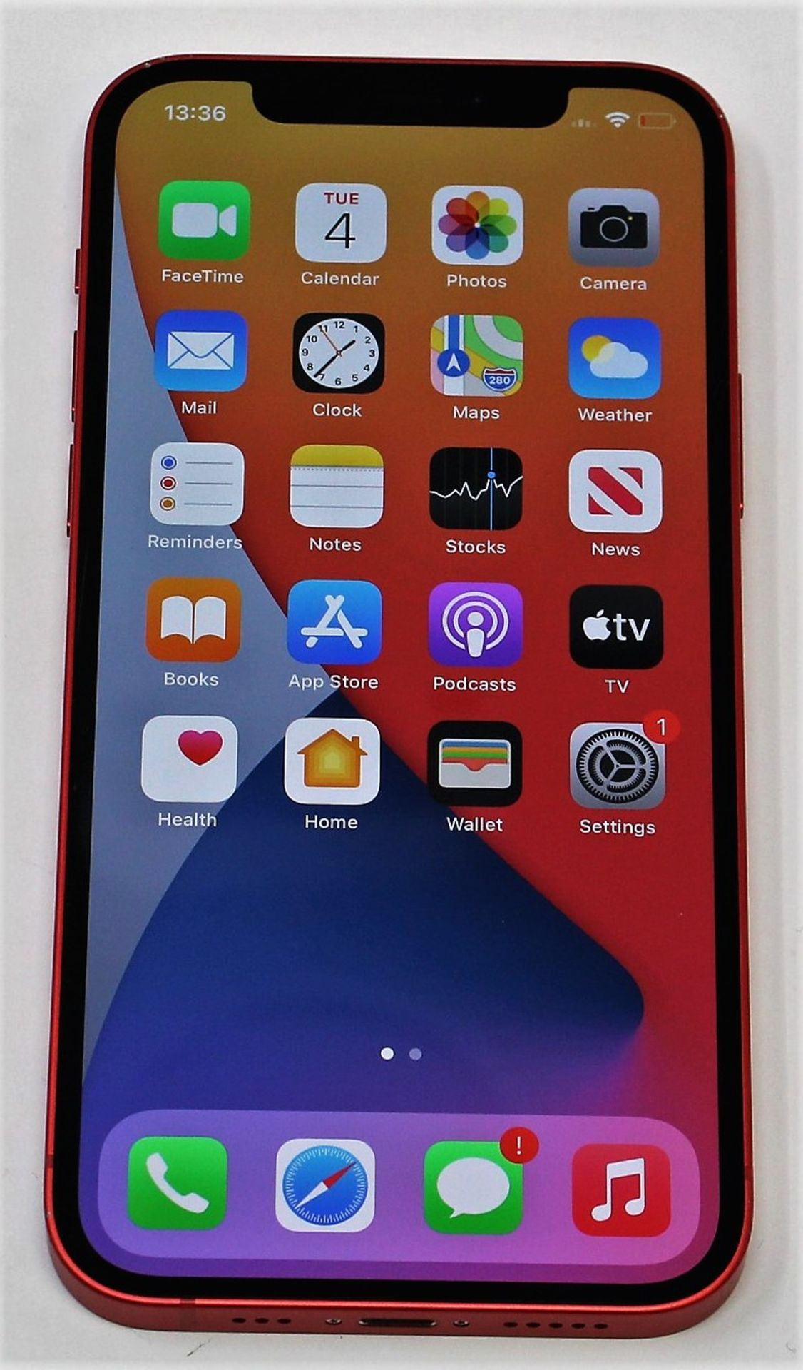 A pre-owned Apple iPhone 12 (Global/A2403) 128GB in Red (FRP clear. Some scratches to screen glass - Image 12 of 16