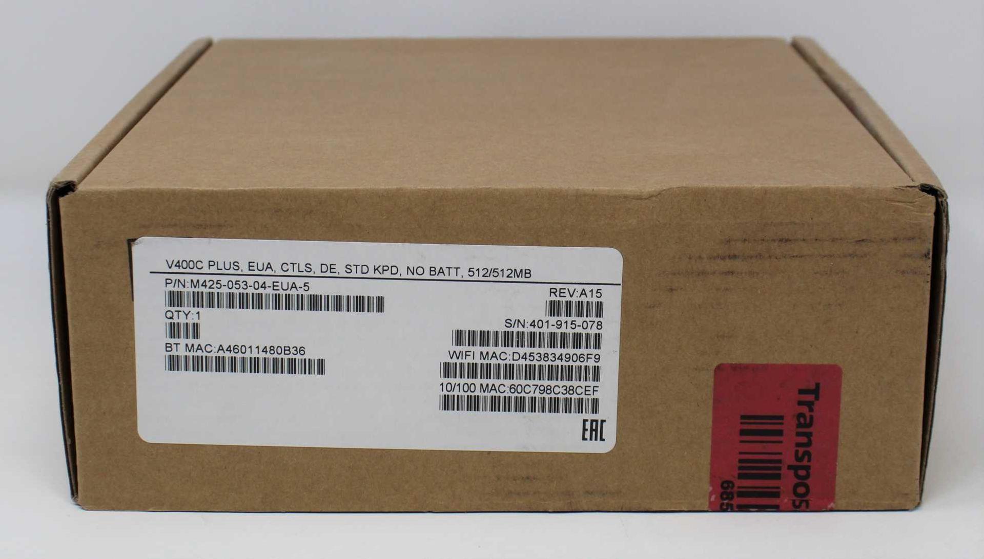 A boxed as new Verifone V400C Plus Touchscreen Payment Terminal (VC400C PLUS, EUA, CTLS, DE, STD