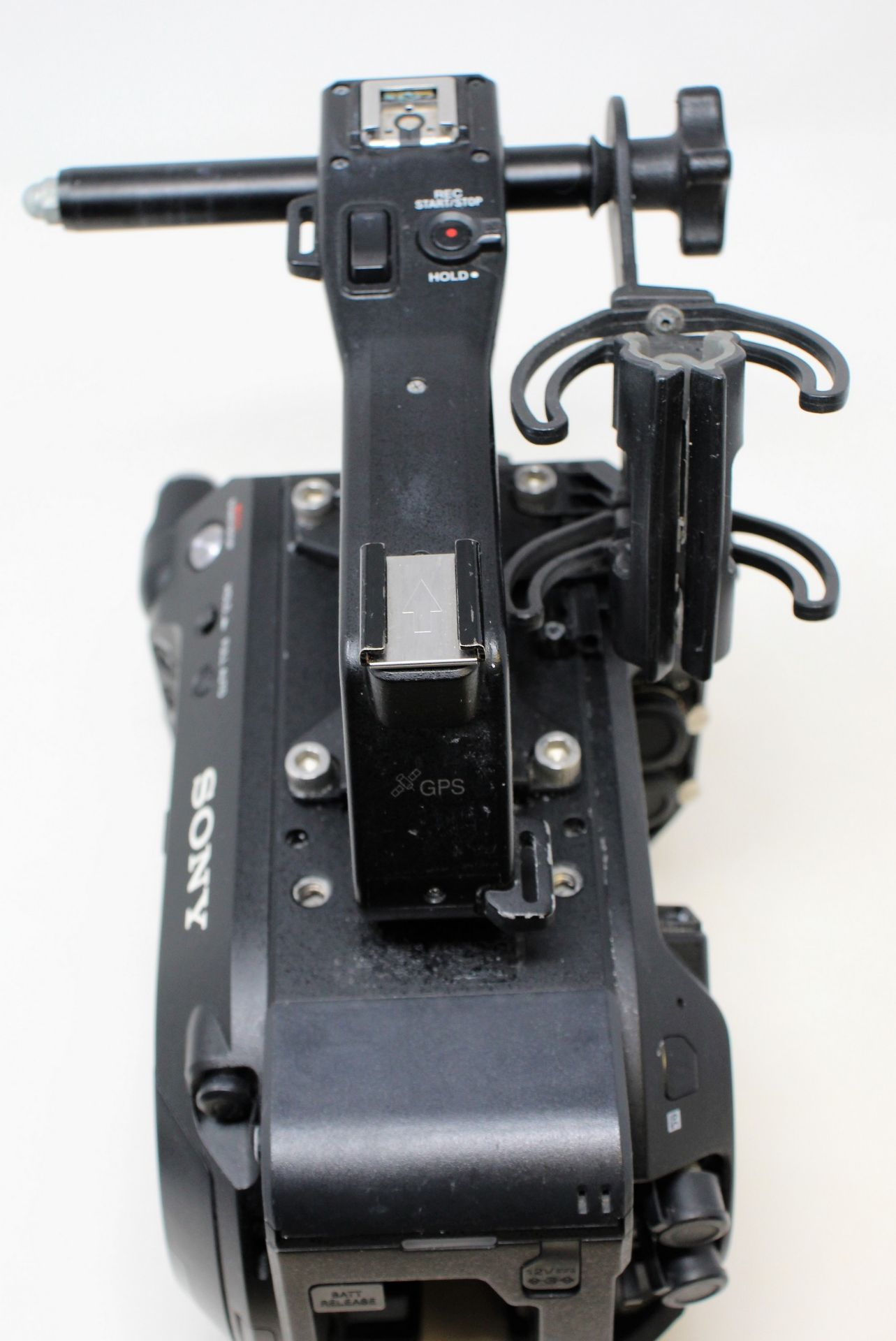 A pre-owned Sony PXW-FS7 II XDCAM 4K Super 35 E-mount Camera Body with Grip and LCD Monitor (M/N: - Image 14 of 33