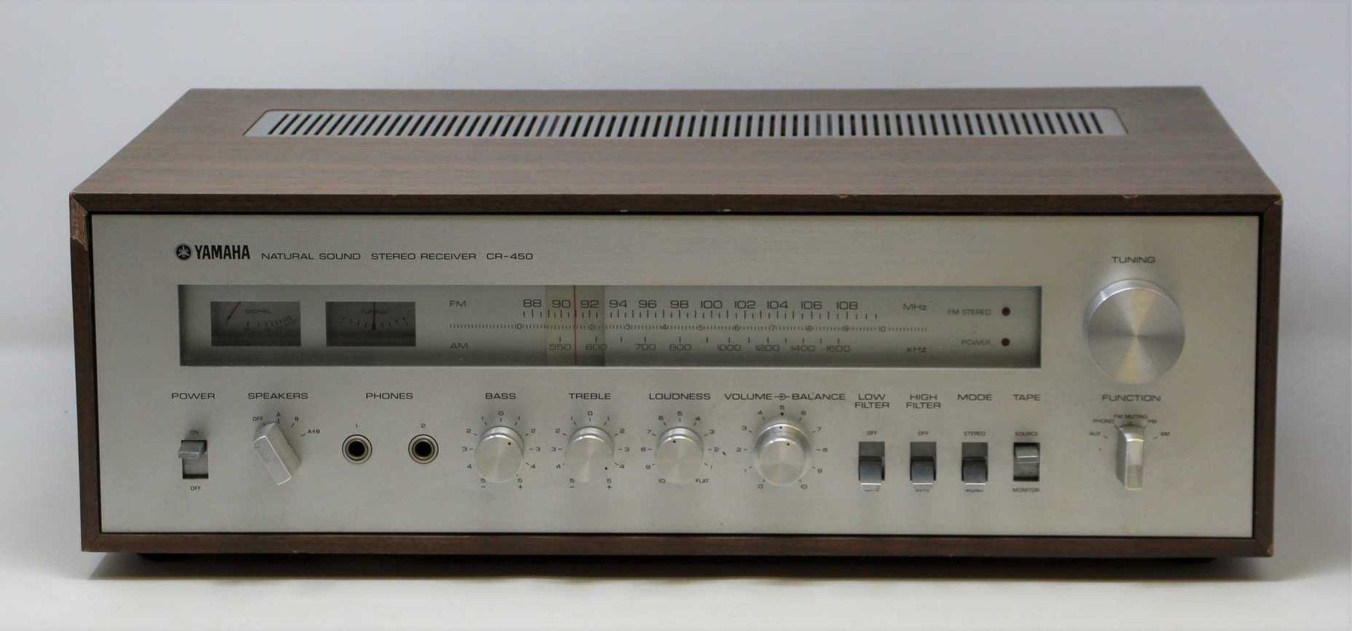 COLLECTION ONLY: A pre-owned vintage Yamaha CR-450 Natural Sound Stereo Recover (Some damage to