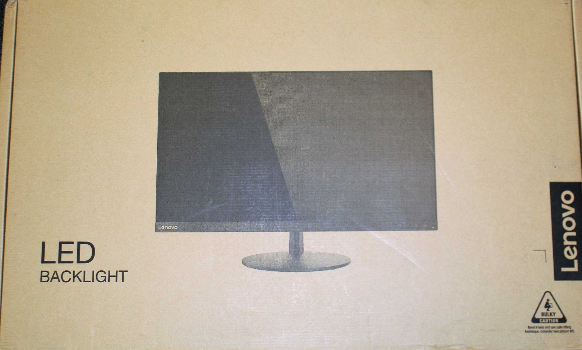 """A pre-owned Lenovo L28u-30 28"""" Ultra HD LED Monitor (Box, stand, power and HDMI cables included)."""