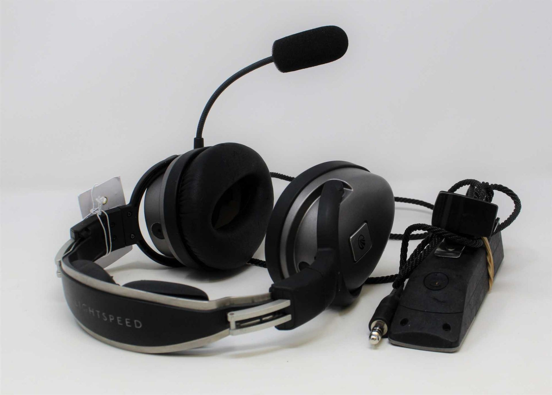 SOLD FOR SPARES OR REPAIR: A pre-owned Lightspeed Zulu PFX Aviation Headset with Bluetooth (