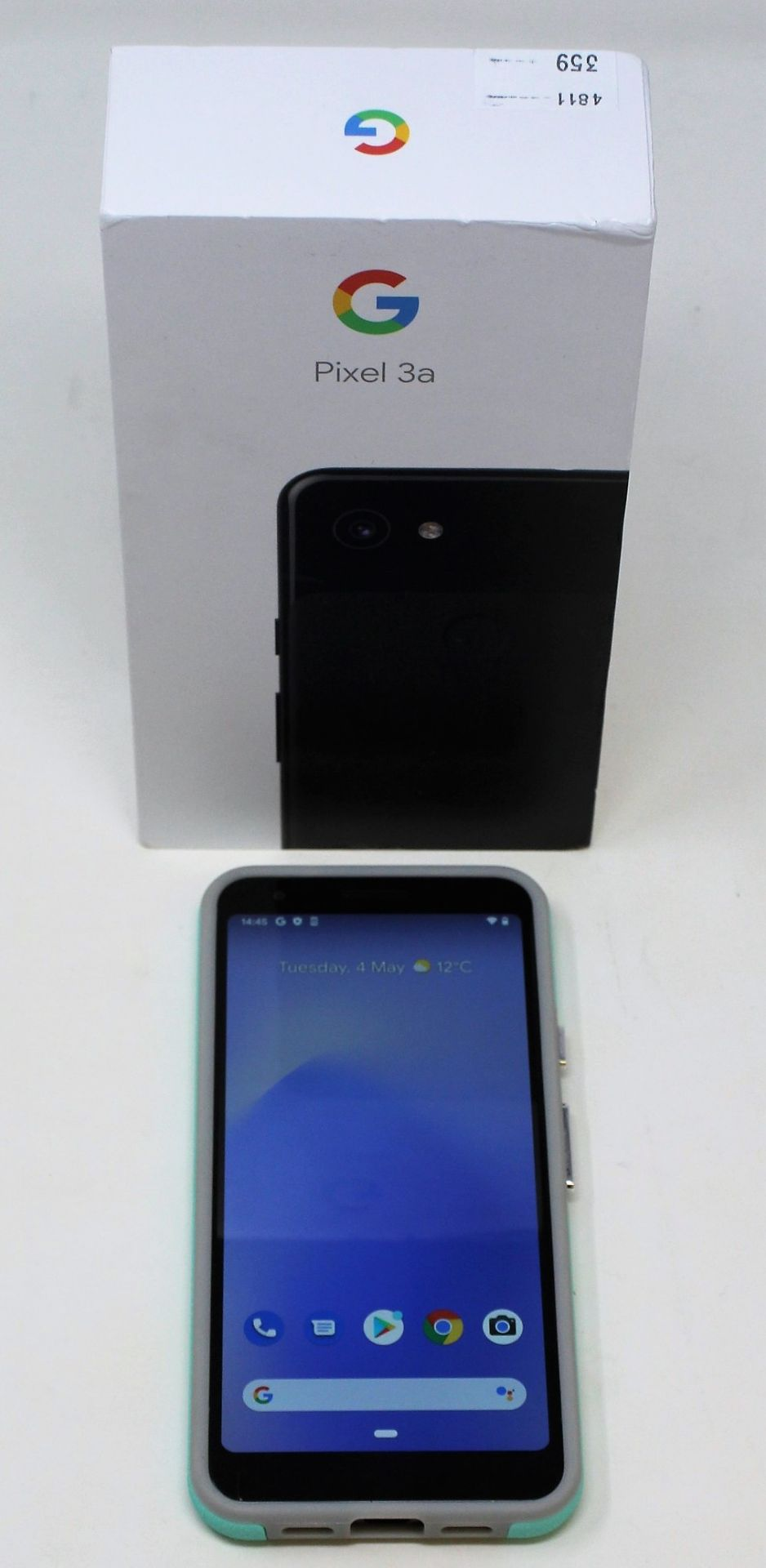 A pre-owned Google Pixel 3a G020G 64GB in Just Black (FRP clear) (Checkmend report ID: CM16922336- - Image 2 of 15