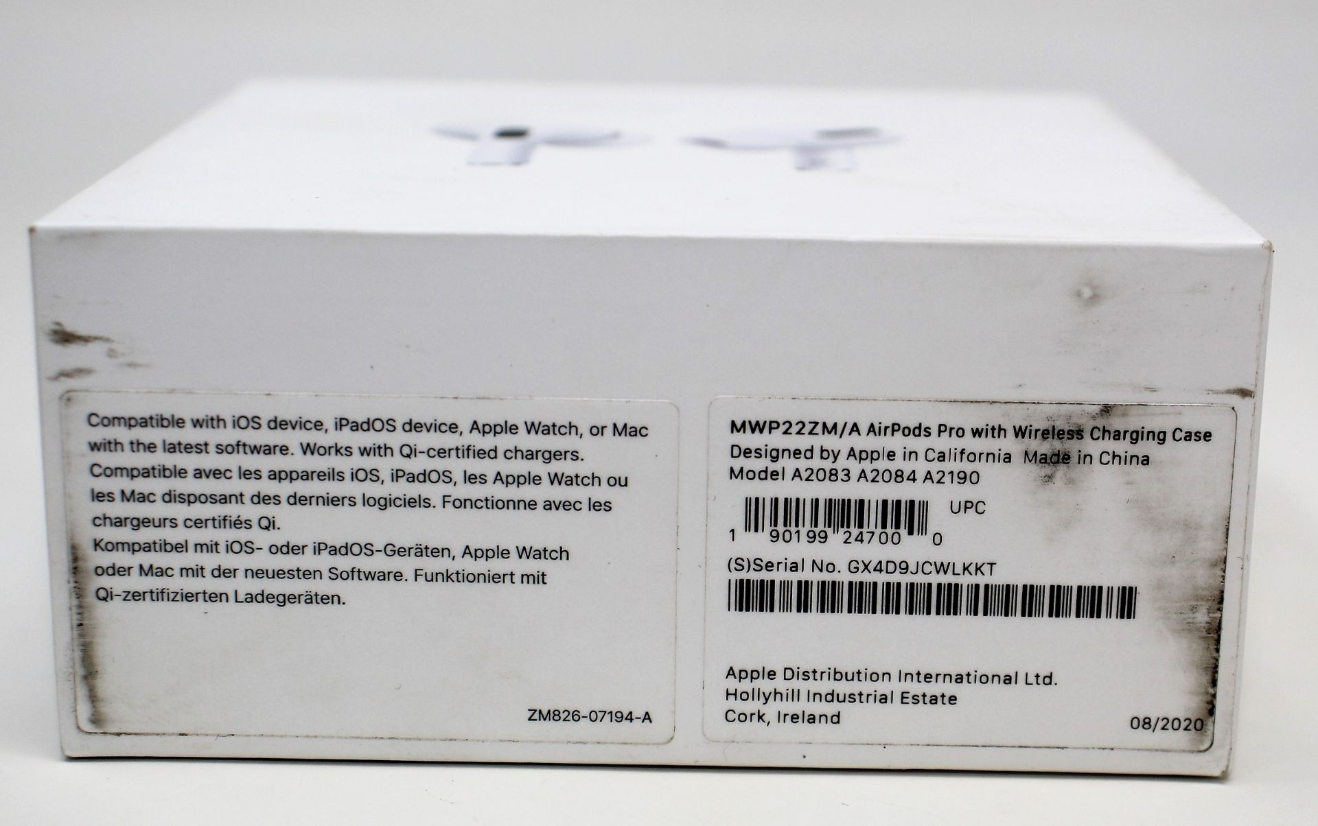 A pre-owned pair of Apple Airpods Pro with Wireless Charging Case (A2083 A2084 A2190) (box, as new - Image 2 of 3