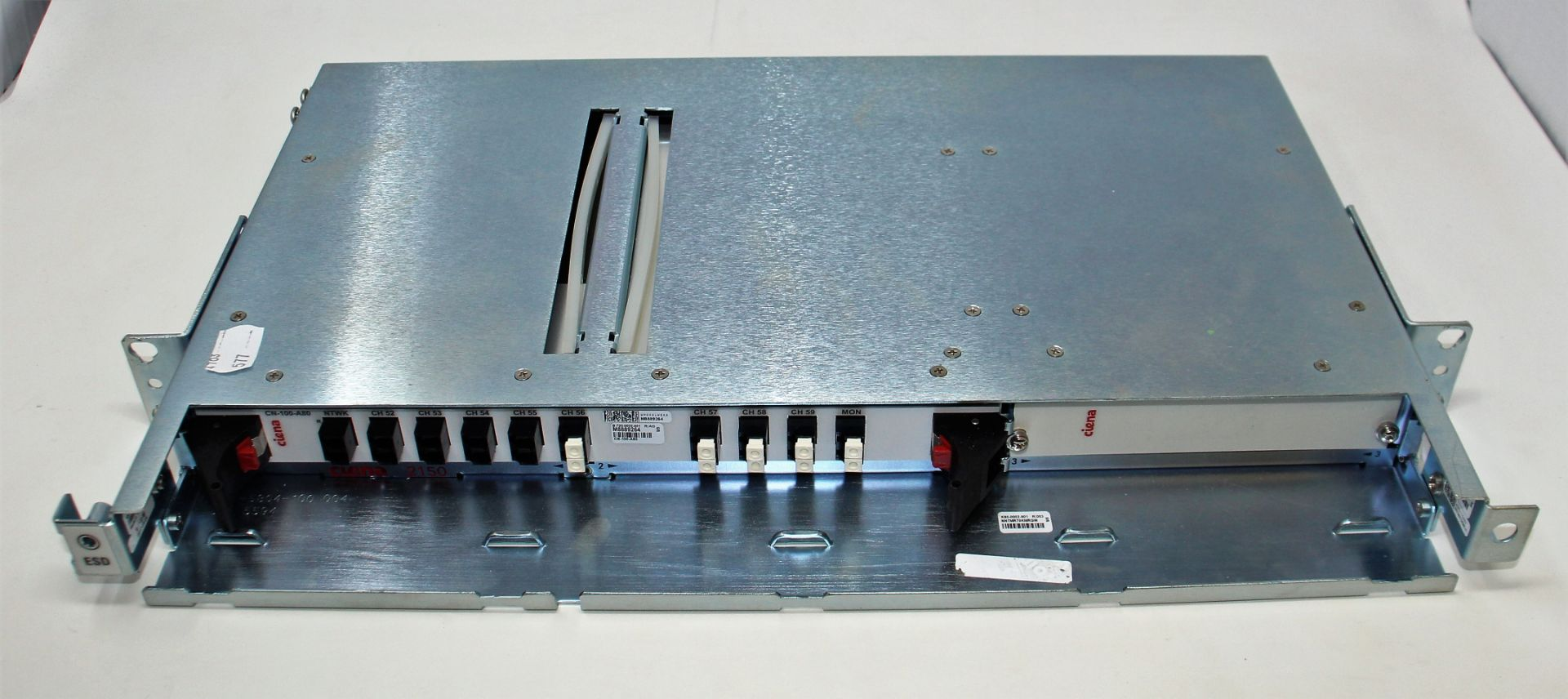 A pre-owned Ciena CN-100-A80 B-720-0022-001 WM0AALWEAA M8889224 DWDM Module (Untested, sold as