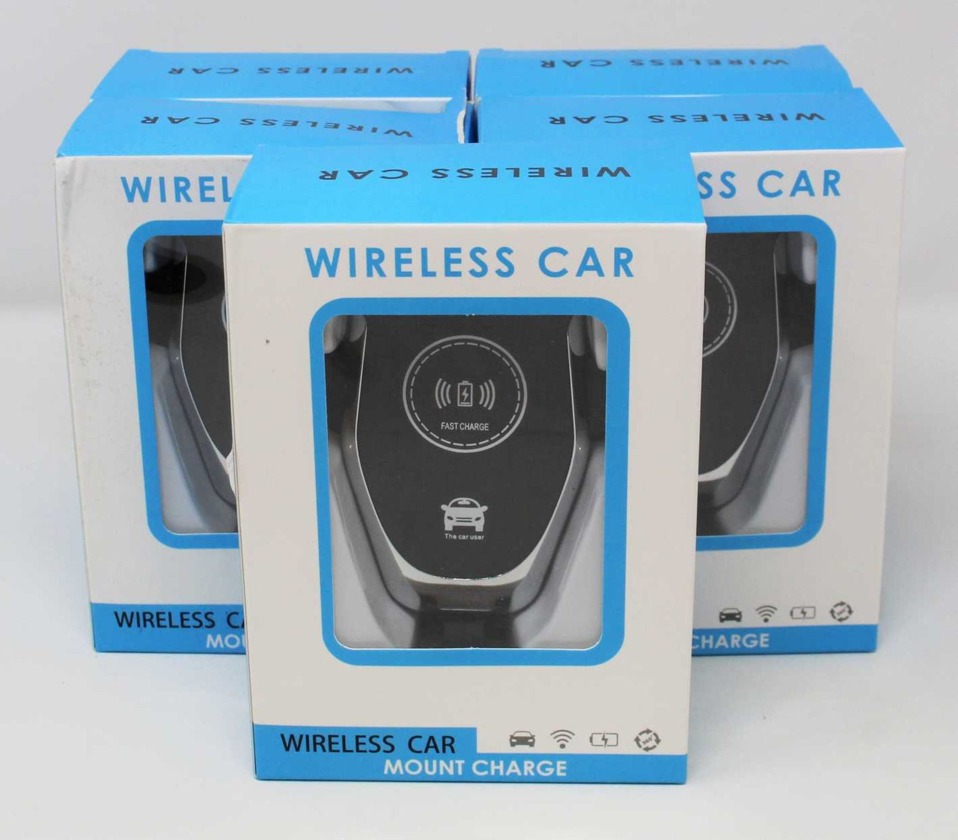 Five boxed as new Wireless Charging Car Phone Mounts.