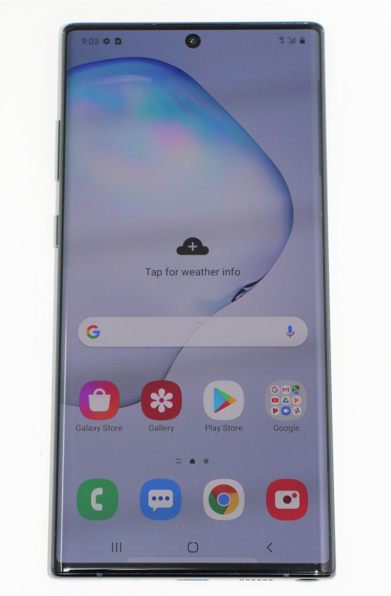 A pre-owned Samsung Galaxy Note 10+ SM-N975U 256GB in Black (FRP clear) (Checkmend report ID: