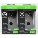 Two boxed as new PowerA Wired Controllers for Xbox One & Windows 10 in Black (Boxes sealed, some
