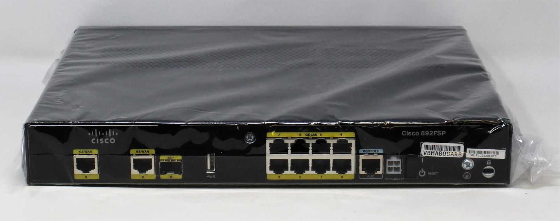A refurbished Cisco 892FSP Gigabit Ethernet Security Router with SFP (P/N: C892FSP-K9-RF) (Box