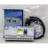 A boxed as new Eaton easy Logic Module Starter Kit (EASY-BOX-721-DC-USB) (Exterior box damaged).