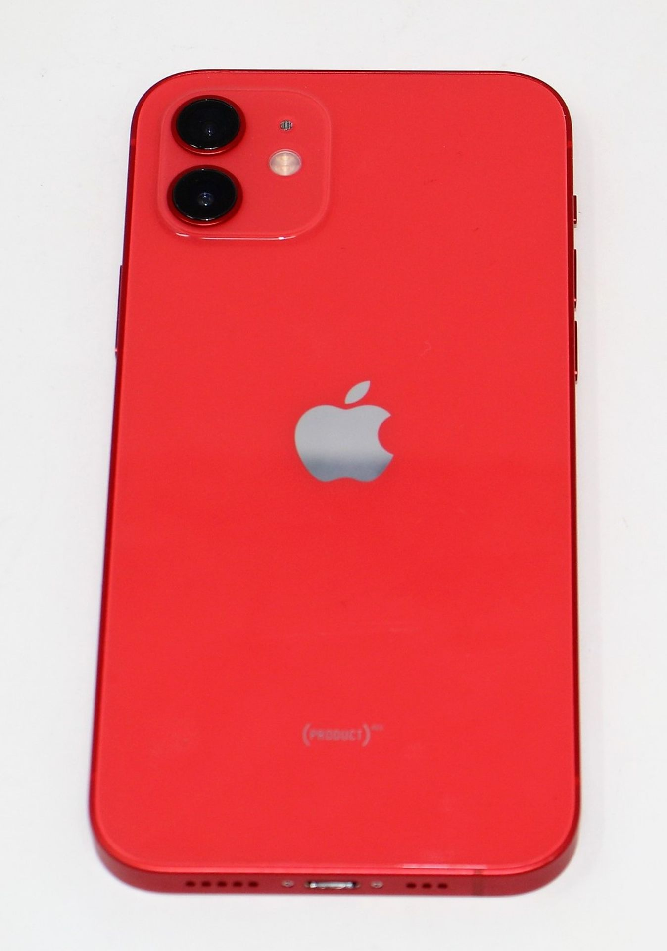 A pre-owned Apple iPhone 12 (Global/A2403) 128GB in Red (FRP clear. Some scratches to screen glass - Image 7 of 16