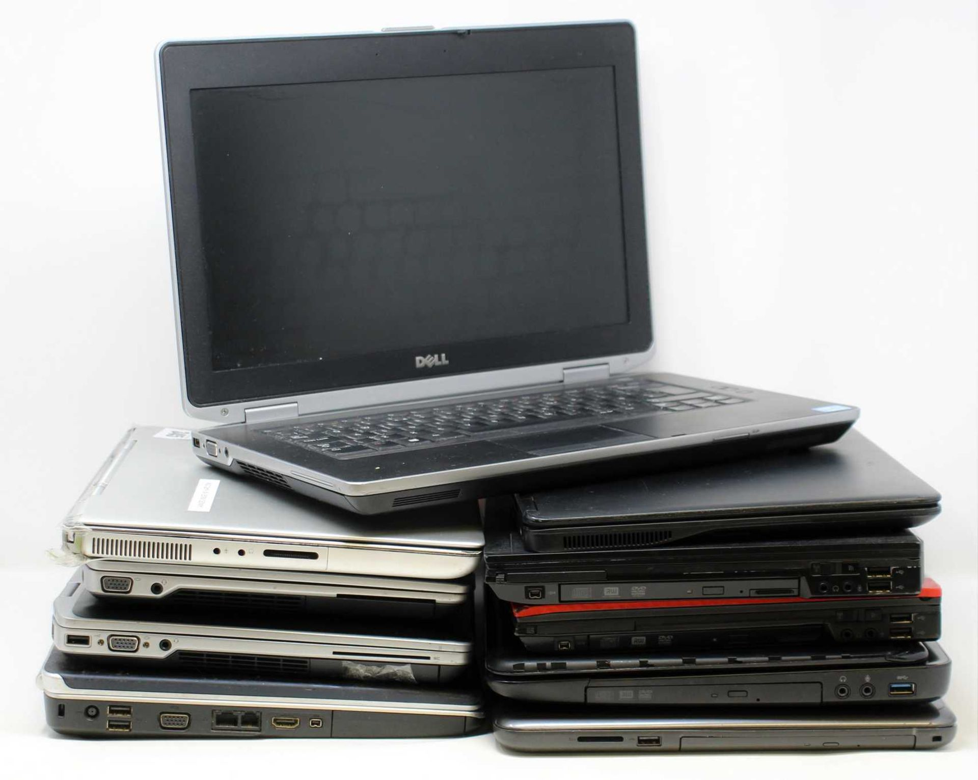SOLD FOR PARTS, COLLECTION ONLY: Ten pre-owned Dell Laptops sold for parts; 3 x Latitude E6420 (1
