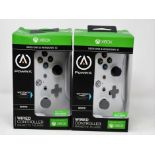 Two boxed as new PowerA Wired Controllers for Xbox One & Windows 10 in White (Boxes sealed, some