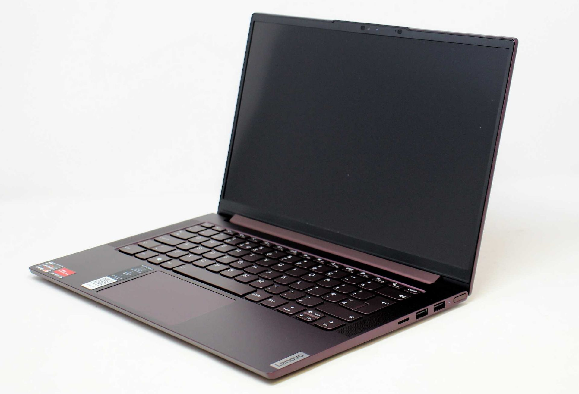 """A boxed as new Lenovo Yoga Slim 7 14ARE05 14"""" FHD IPS Laptop in Orchid with AMD Ryzen 5 4500U 2."""