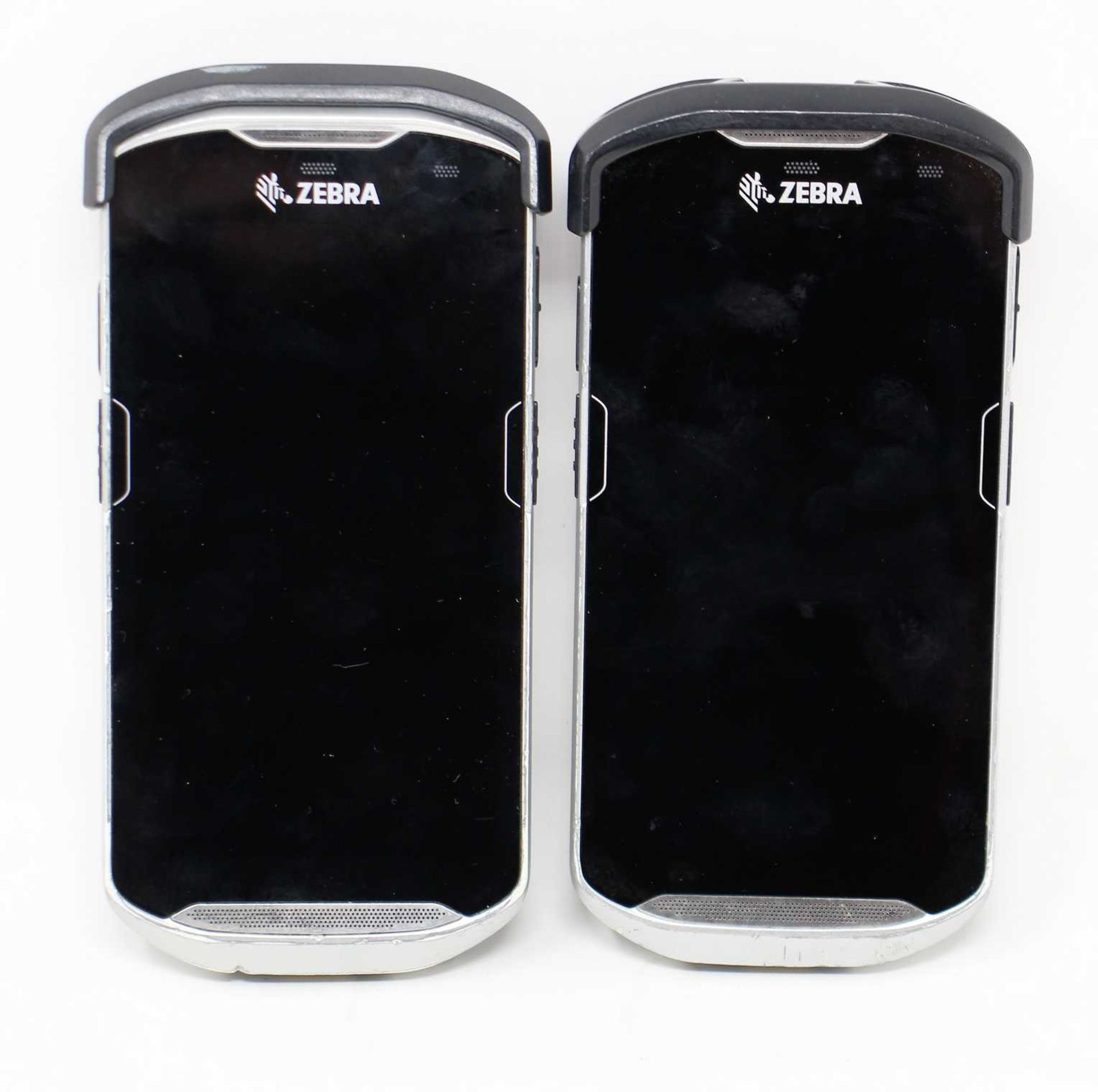 SOLD FOR PARTS: Two pre-owned Zebra TC510K Mobile Handheld Computer Barcodes Scanners (M/N: TC510K-