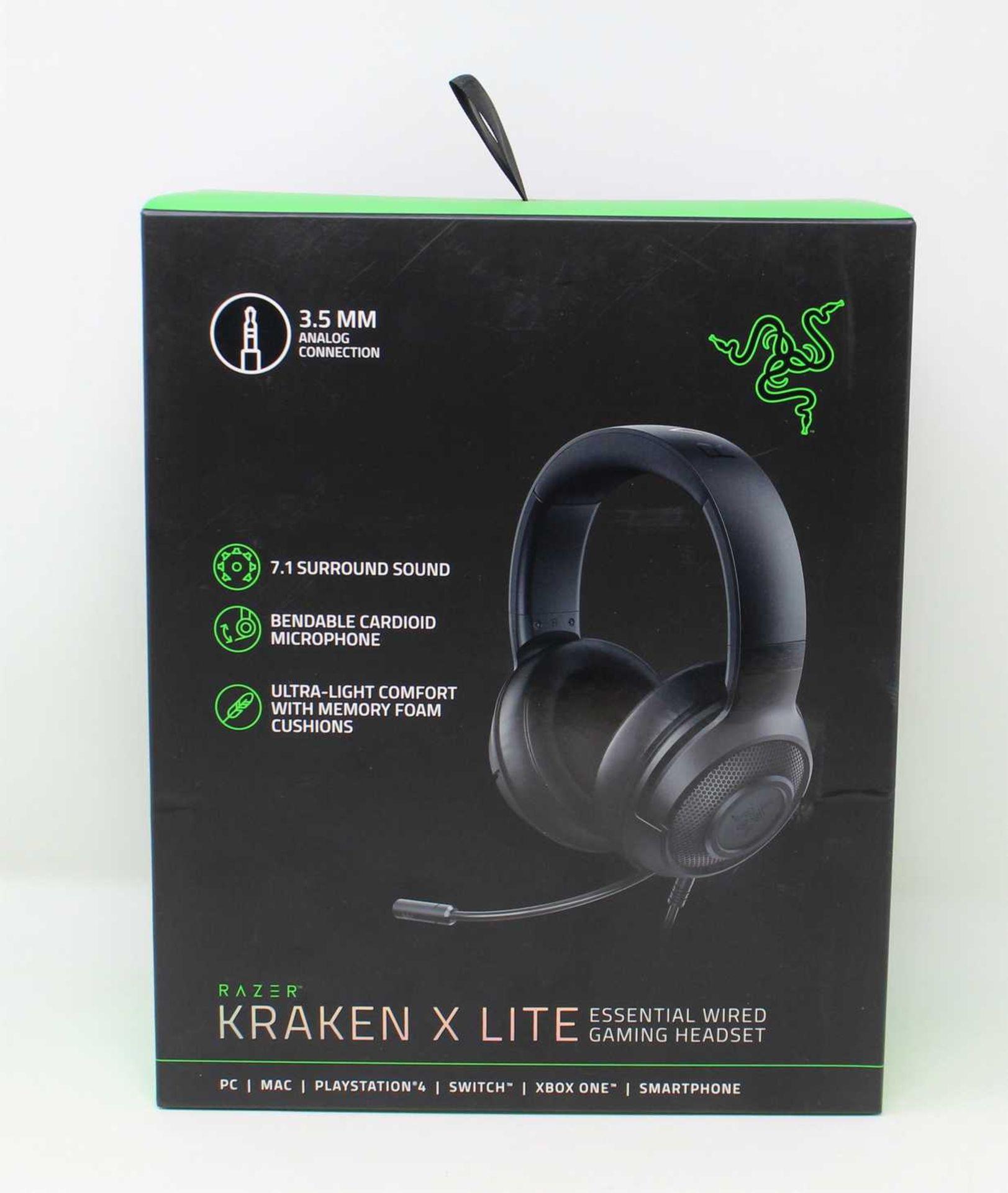 A boxed as new Razer Kraken X Lite Wired Gaming Headset (Box sealed).