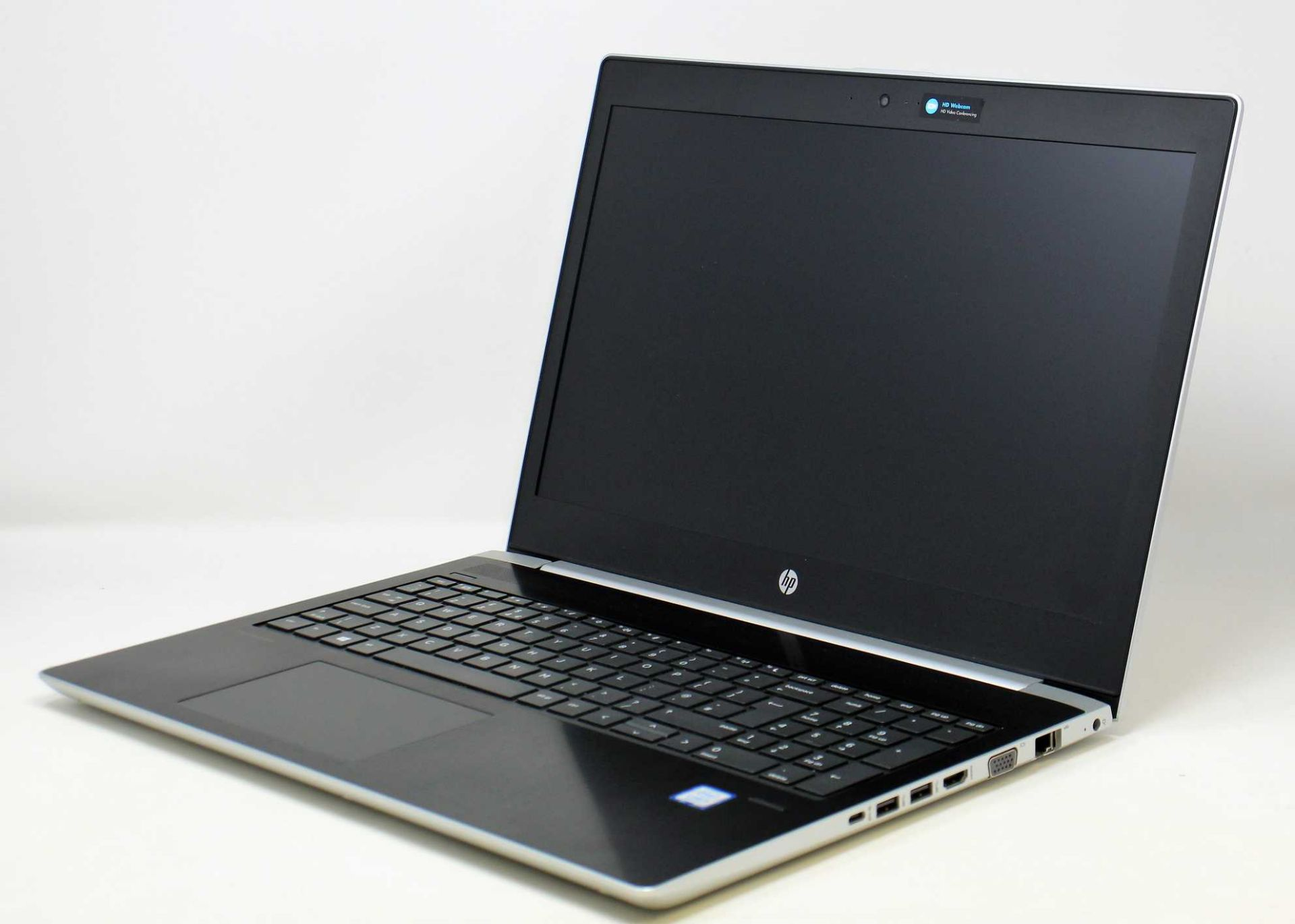 "A pre-owned HP ProBook 450 G5 15.6"" Laptop in Silver with Intel Core i5-8250U 1.60GHz, 8GB RAM,"