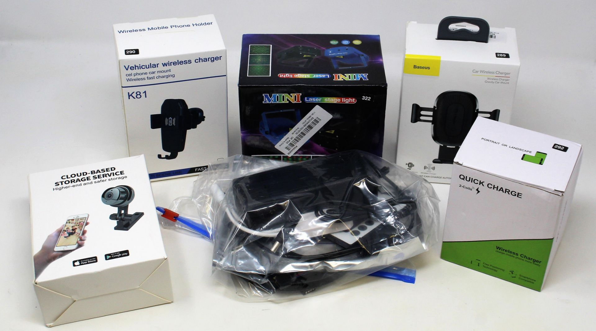 A box of assorted as new electrical items and accessories to include USB DVD drives, Bluetooth - Image 6 of 7