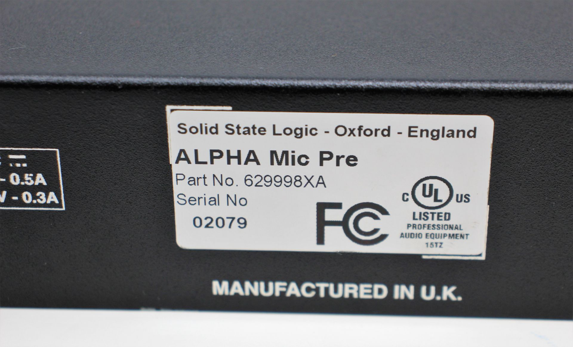 A pre-owned Solid State Logic XLogic Alpha VHD Pre 4-Channel Mic Preamp (Some damage. No power - Image 12 of 17