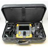 A pre-owned Fluke ScopeMeter 190-204 4 Channel 200MHz 2.5GS/s Portable Digital Color Oscilloscope