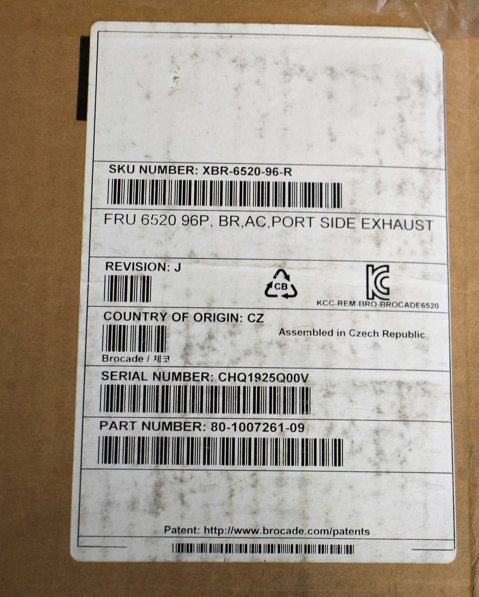 SOLD FOR PARTS: A pre-owned Brocade 6520 96 Port Switch (BR-6520-96-16G-R 80-1007257-04) (Box states