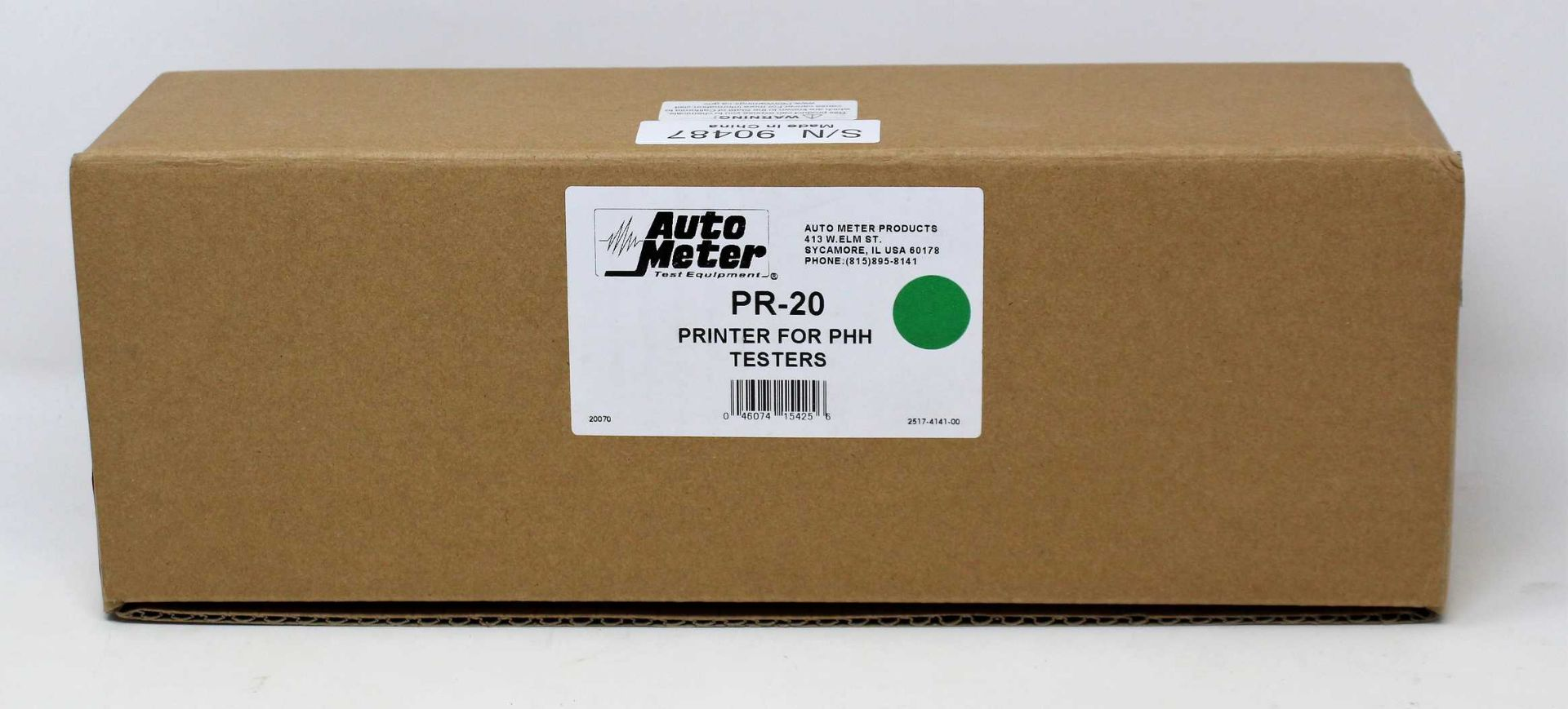 A boxed as new AutoMeter PR-20 Add-On Thermal Printer For PHH Testers.