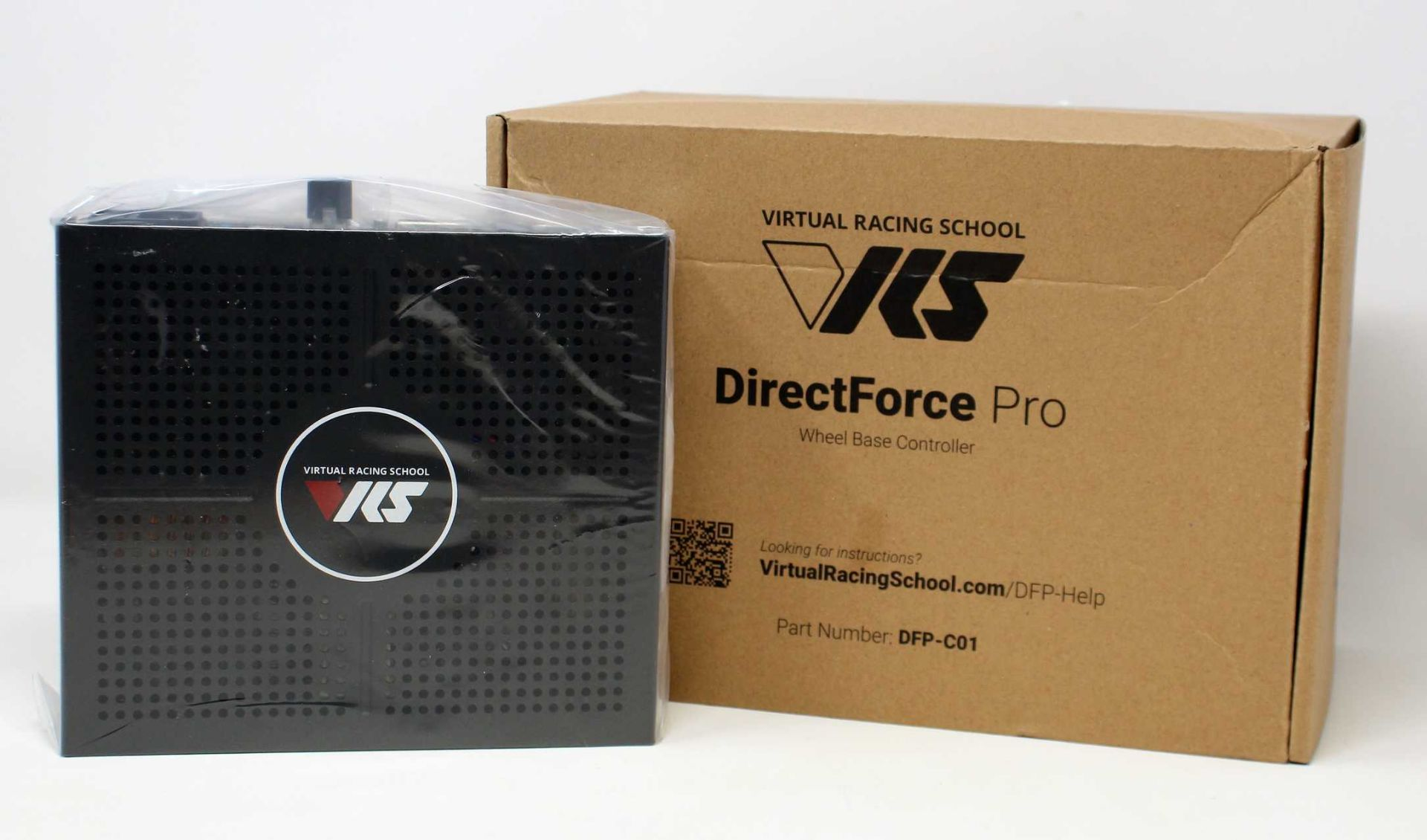 A boxed as new VRS Directforce Pro Wheel Base Controller (M/N: DFP-C01) (Inner packaging sealed, box