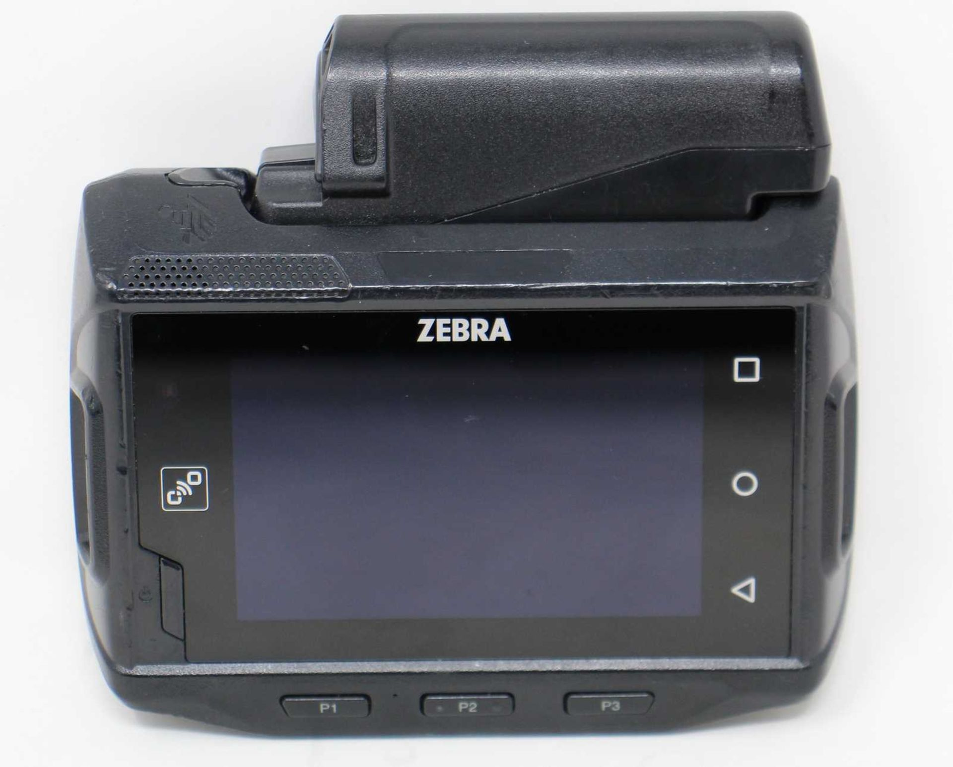 SOLD FOR PARTS: A pre-owned Zebra WT6000 WT60A0-TX2NEWR Wearable Computer with battery (Untested,
