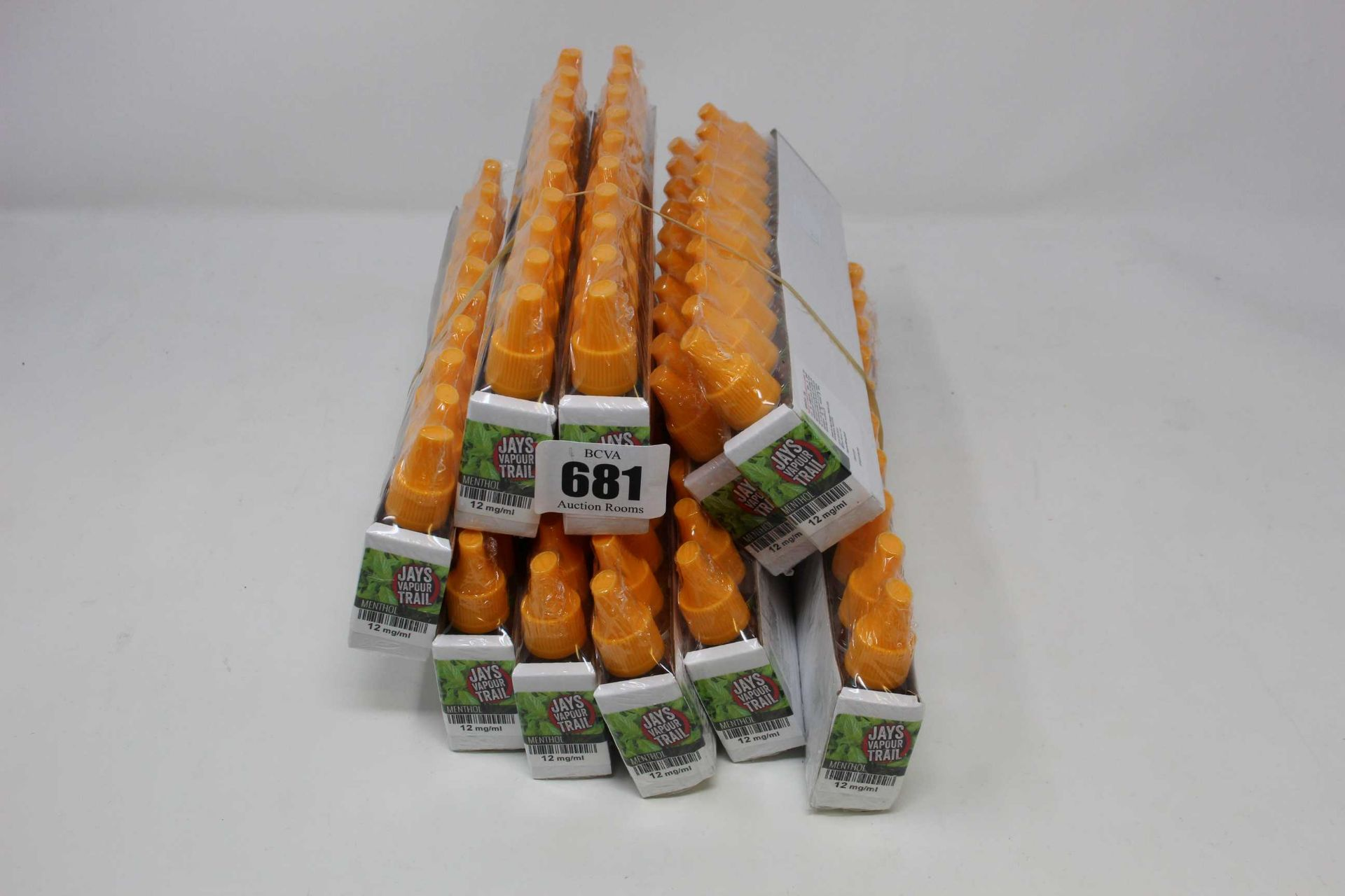 Ten packs of ten 10ml/12mg vape liquid in menthol flavour (Over 18s only).