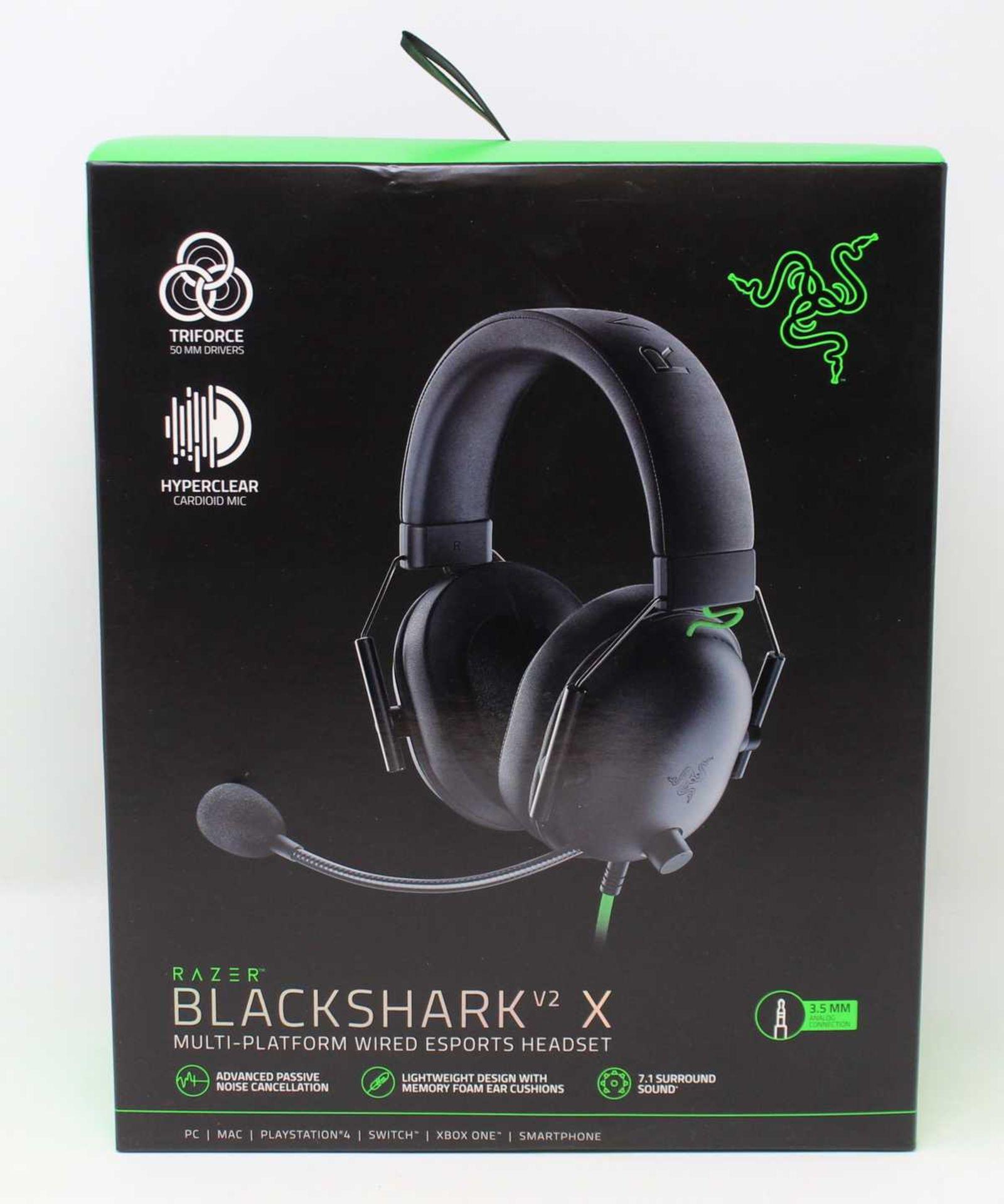 A boxed as new Razer Blackshark V2 X Wired Gaming Headset (Box sealed).