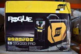 A boxed as new Esab rouge 180i/200i welder.