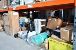 A quantity of miscellaneous, mainly industrial related items, to include a cafe barrier and debris