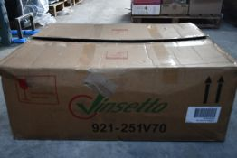 A boxed Vinsetto PU Leather Ergonomic Racing Chair in black (921-251V70).