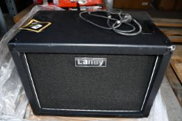 A Laney LFR-112 Active Guitar Cabinet (Some minor damage to item).