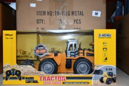 Six boxed as new Top Race Radio Control Tractors (Front Loaders, TR-113g).
