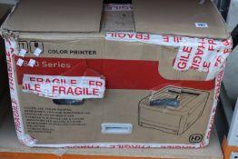 A pre-owned OKI C824n A3 colour laser printer.