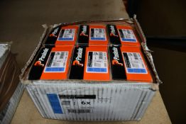 Six boxes of Paslode 300272 1.6 x 45mm F16 Angled Brads x 2000 with 2 Fuel Cells.