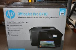 A boxed OfficeJet Pro 8710 All-In-One multi function printer.