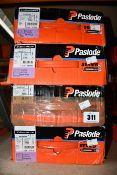 Four Paslode 141070 3.1 x 90mm Round Smooth Shank Nails x 2200 with 2 Fuel Cells (Some damage to